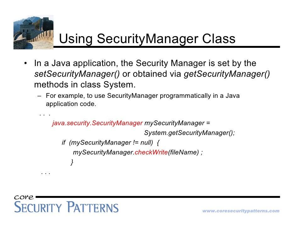 Java Platform Security Architecture