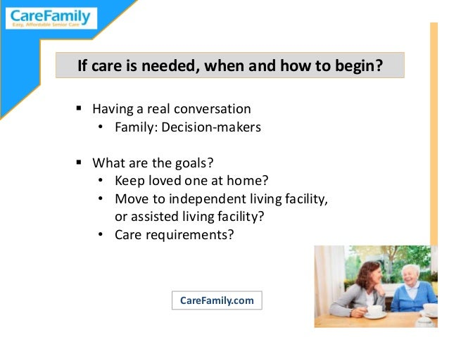 Planning Ahead for Elder Care Slide 3