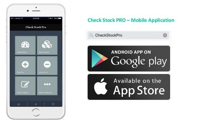 CheckStockPro Check Stock PRO – Mobile Application