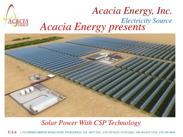 Acacia Energy, Inc.                                                                                  Electricity Source   ...