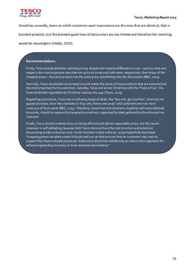 Marketing Management: Tesco (1532810)