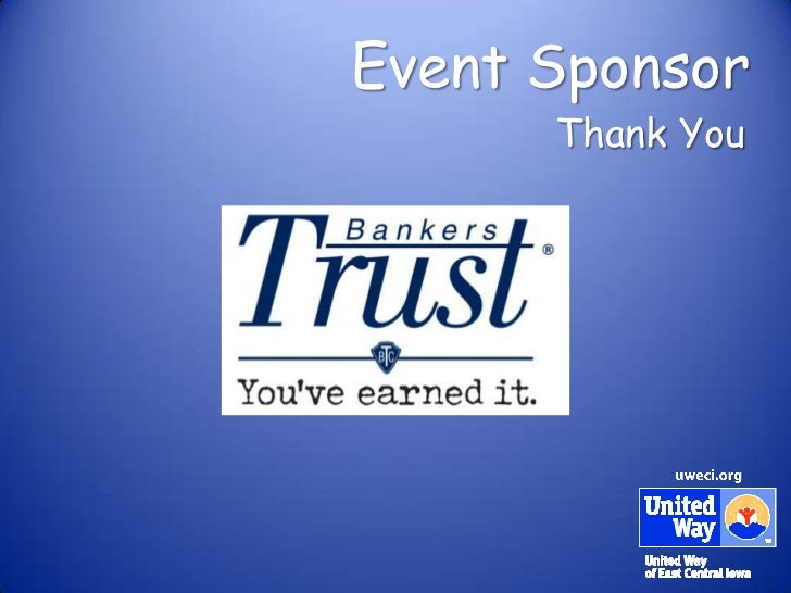 Event Sponsor      Thank You