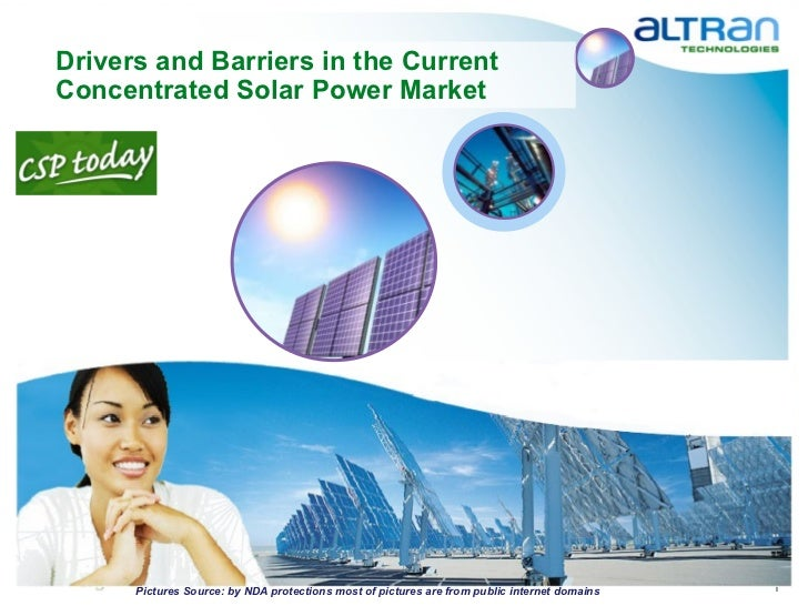 Drivers and Barriers in the Current Concentrated Solar Power Market