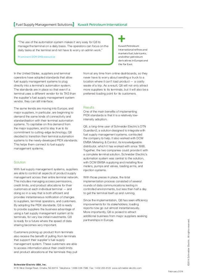 Fuel Supply Management Solutions   Kuwait Petroleum