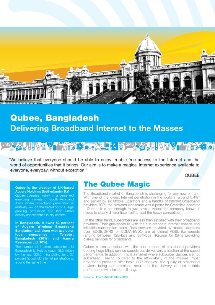 Case Study - Qubee : Delivering Broadband Internet to the Masses