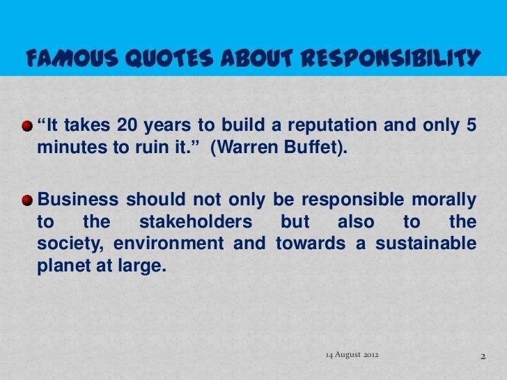 CORPORATE SOCIAL RESPONSIBILITY Slide 2
