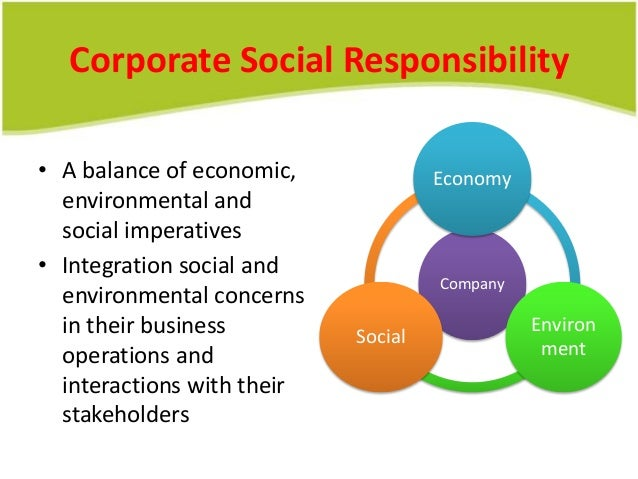 corporate social and environmental responsibility essay Read corporate social responsibility free essay and over 88,000 other research documents corporate social responsibility there is a question that lingers about corporate social responsibility in today&aposs society.