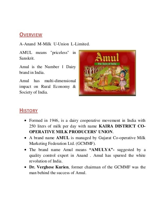 Corporate Social Responsibility, The Amul Way