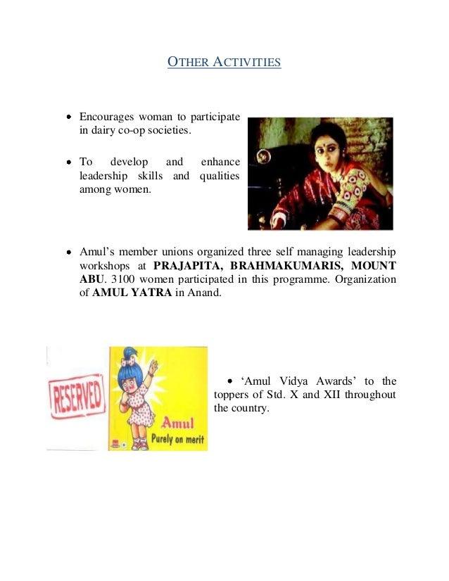 csr activities of amul