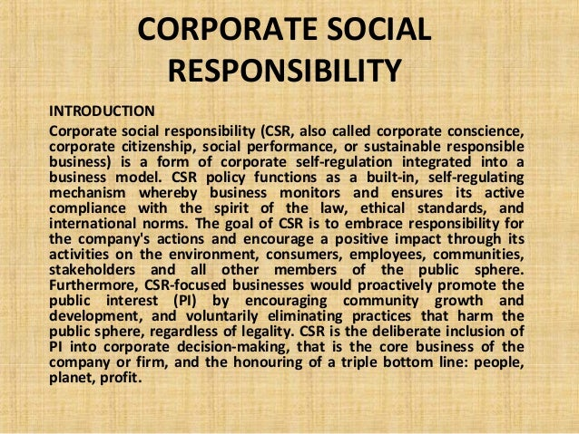 Thesis: Corporate Social Responsibility