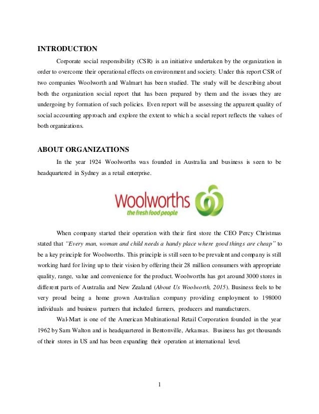 woolworths group csr Woolworths group november 2014 - heute (3 jahre 11 monate) • heading the social & technical audit compliance for woolworths group, indian sub-continent operation.