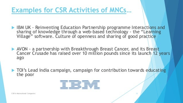 why are mncs getting involved in corporate social responsibility