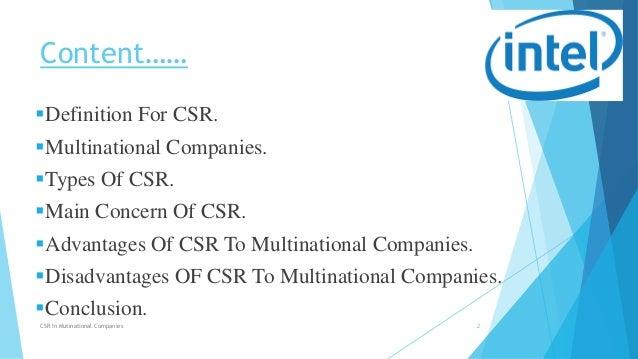Types of CSR