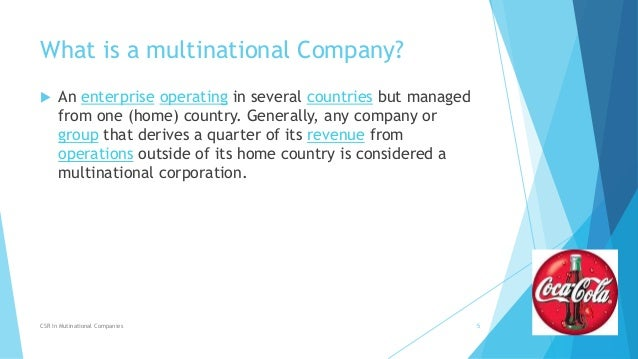 Corporate social responsibility csr of mncs