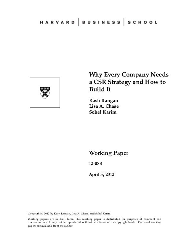 Why Every Company Needs                                               a CSR Strategy and How to                           ...