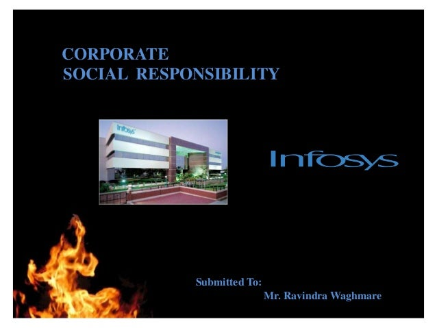 CORPORATESOCIAL RESPONSIBILITY          THANK YOU            Submitted To:                            Mr. Ravindra Waghmare