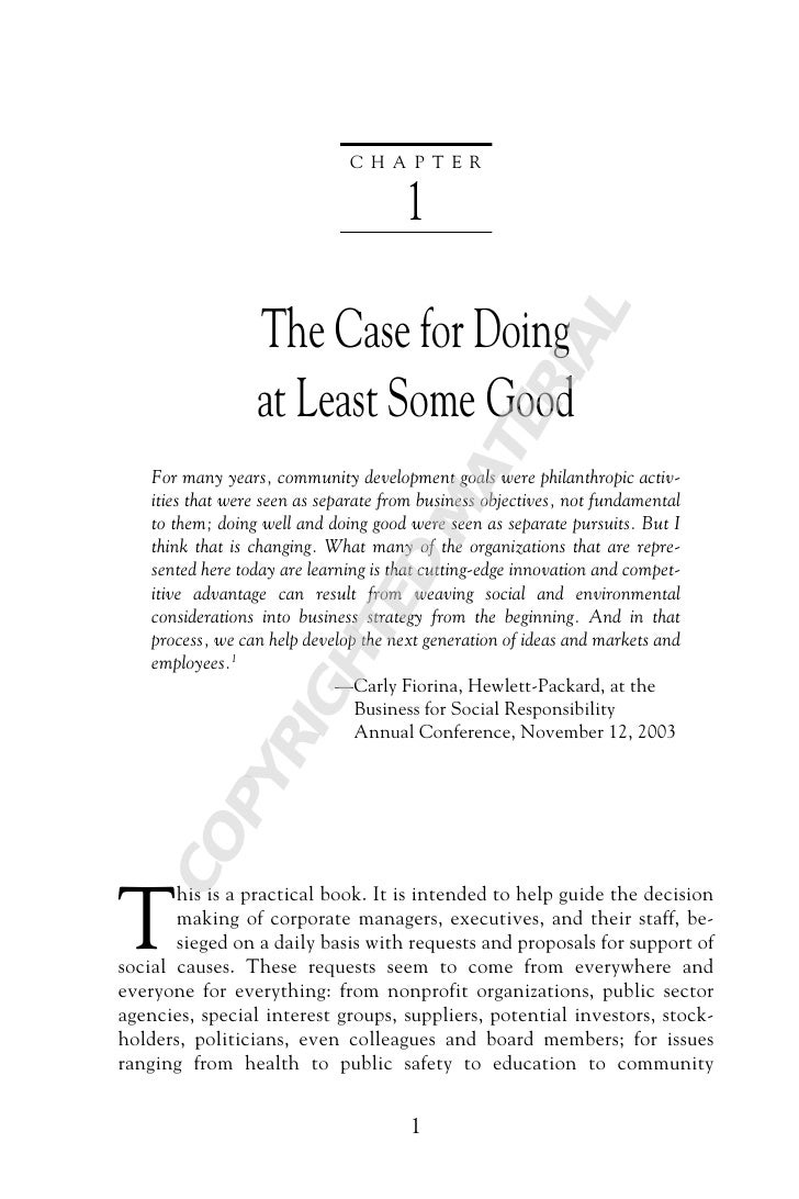 CHAPTER                                       1                  The Case for Doing                                       ...