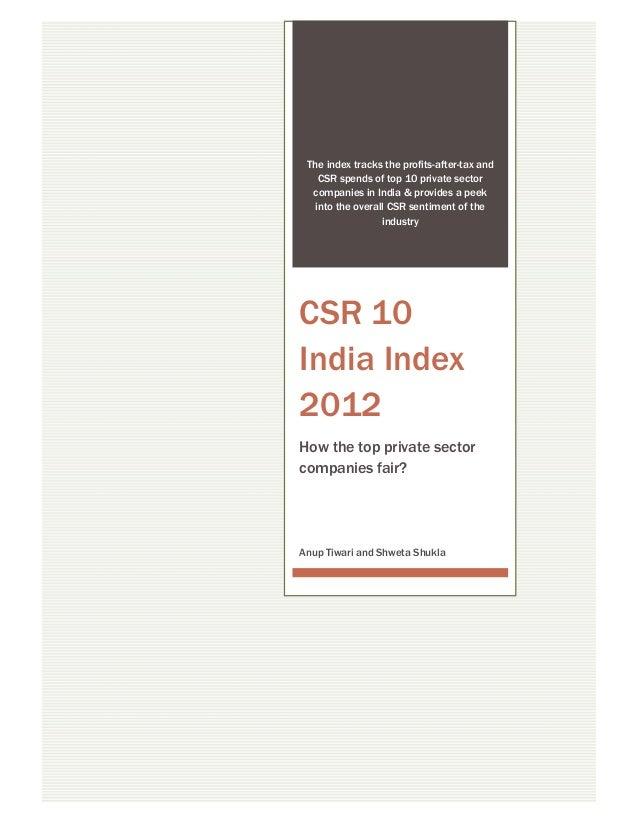 CSR 10 India Index 2012