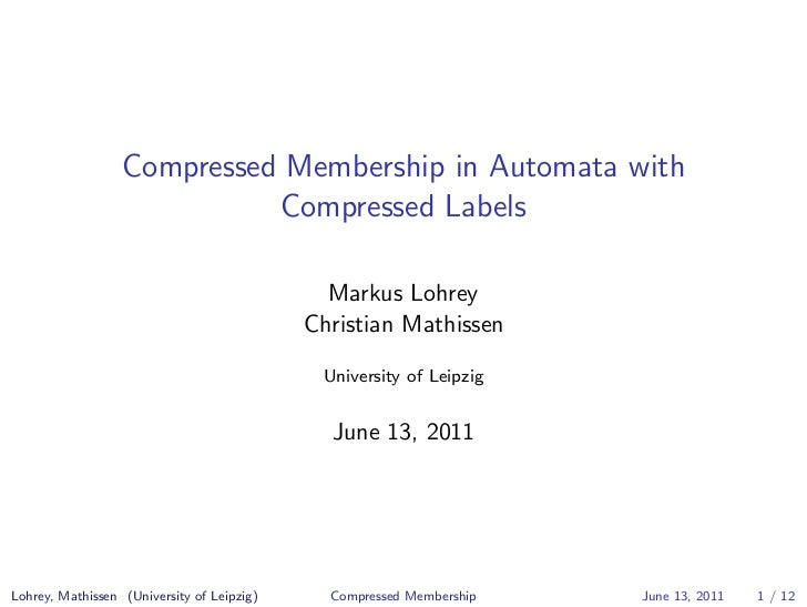 Compressed Membership in Automata with                            Compressed Labels                                       ...
