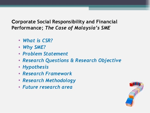 statement of problems of sme Corporate social responsibility and smes - barriers and opportunities in a swedish perspective by ae-li yu supervisor: emma sj str m, stockholm school of economics co- supervisor: 12 problem statement.
