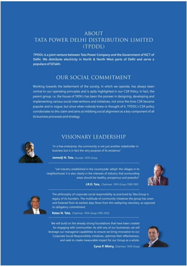 Corporate Social Responsibility At TPDDl