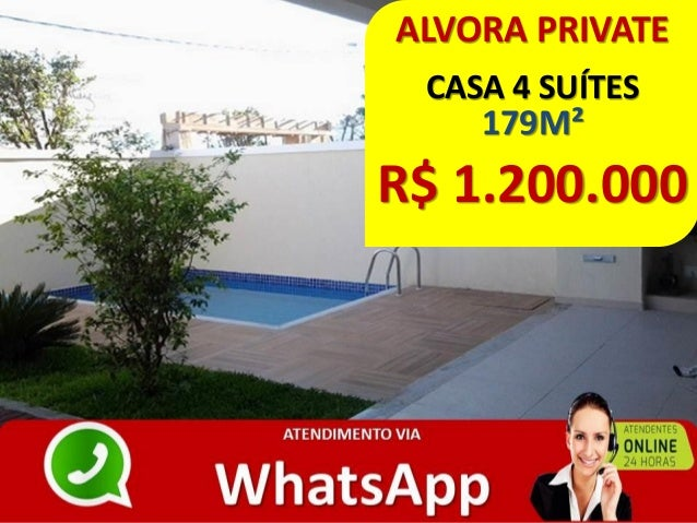 ALVORA PRIVATE CASA 4 SUÍTES 179M² R$ 1.200.000