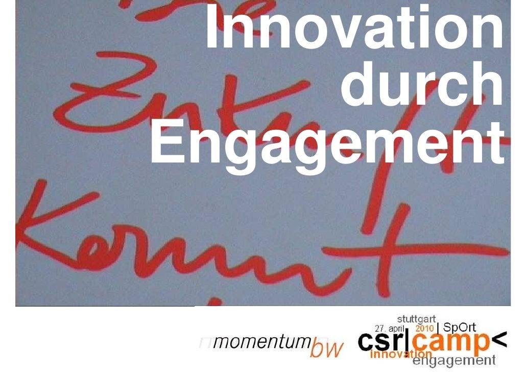 Innovation      durch Engagement