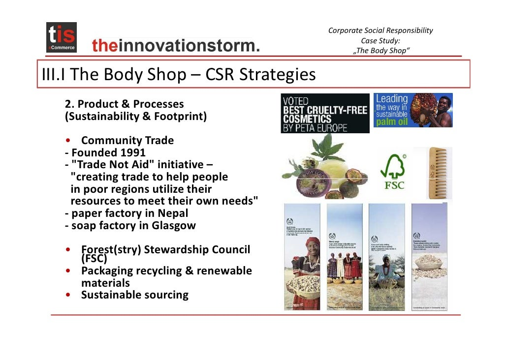 body shop csr case study