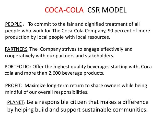 csr coca cola Csr activities of coca cola - free download as word doc (doc), pdf file (pdf),  text file (txt) or read online for free.
