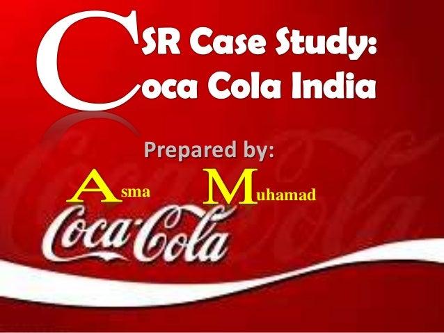 Csr coca cola dissertation