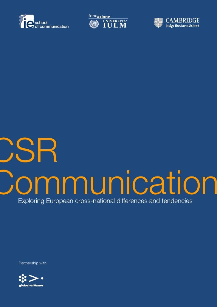 CSR CSR  Disclosure Communication  Exploring European cross-national differences and tendencies      Partnership with     ...