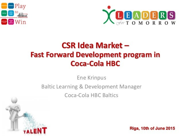 Coca cola organizational development