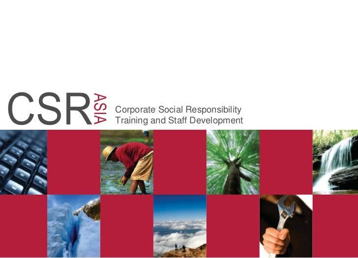 Corporate Social ResponsibilityTraining and Staff Development