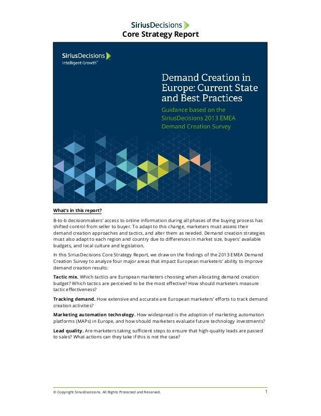 What's in this report?  B-to-b decisionmakers' access to online information during all phases of the buying process has  s...