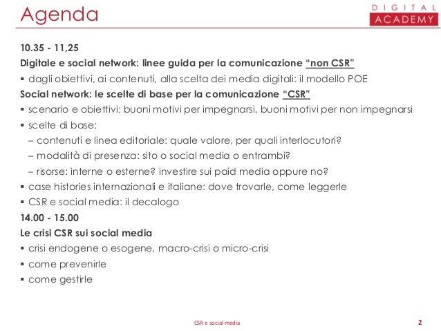 Comunicazione CSR e social media Slide 2