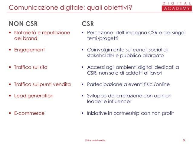 Comunicazione CSR e social media Slide 3