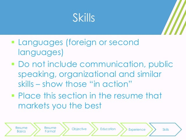 skills languages - Resume Skills Computer Science