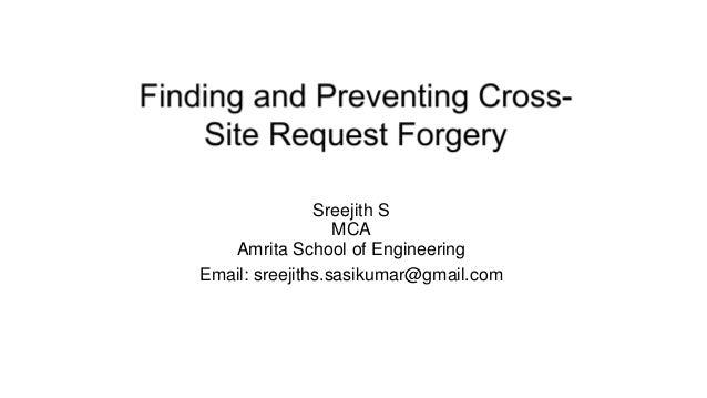 Sreejith S MCA Amrita School of Engineering Email: sreejiths.sasikumar@gmail.com