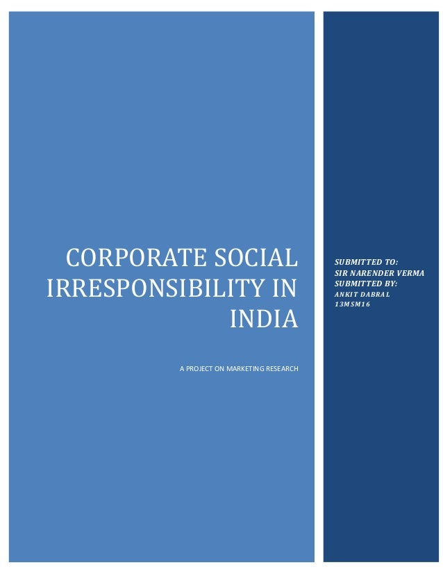 case study on corporate social responsibility of mncs in india