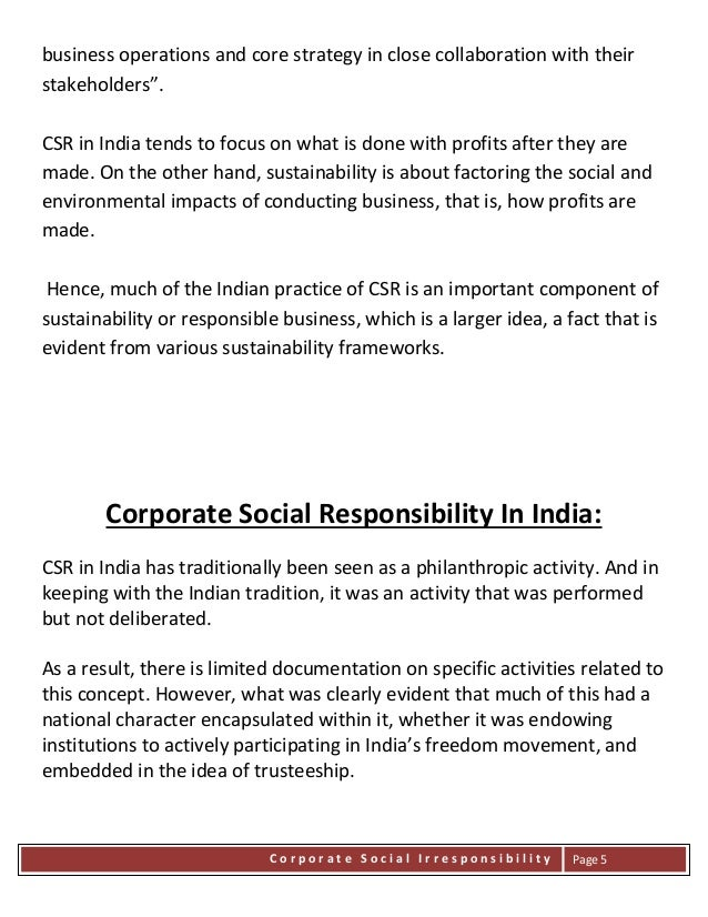 corporate irresponsibility and corporate social responsibility There are many types of corporate social responsibility (csr) programs that businesses can use find out the top companies who participate in csr programs.