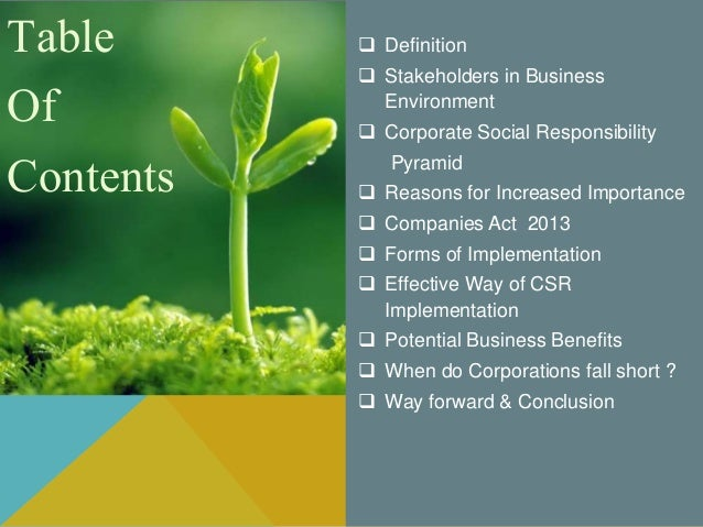 importance of csr Corporate social responsibility (csr) reporting has become a popular method for companies to integrate csr and sustainability into their decision-making processes this tool helps the company to identify material issues, risks, and opportunities.