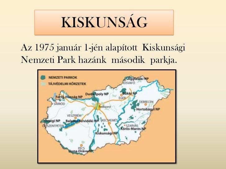 KISKUNSÁGAz 1975 január 1-jén alapított KiskunságiNemzeti Park hazánk második parkja.
