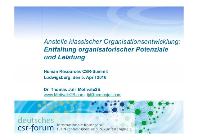 Human Resources CSR-Summit Ludwigsburg, den 5. April 2016 Dr. Thomas Juli, Motivate2B www.Motivate2B.com, tj@thomasjuli.co...