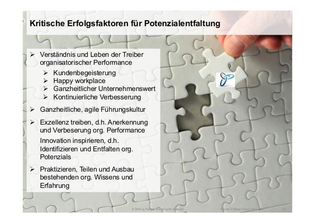 Kritische Erfolgsfaktoren für Potenzialentfaltung © 2016 by Thomas Juli, all rights reserved 19Picture © Rainer Sturm | Pi...