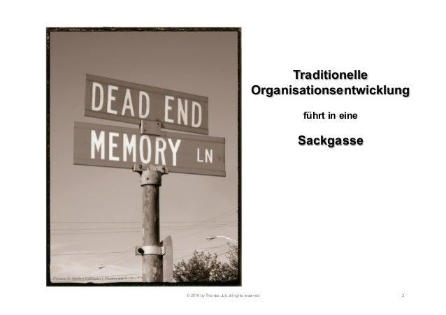 Ausweg aus den Irrwegen klassischer Organisationsentwicklung Slide 2