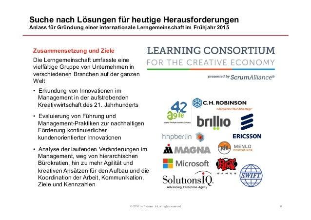 Suche nach Lösungen für heutige Herausforderungen Anlass für Gründung einer internationale Lerngemeinschaft im Frühjahr 20...
