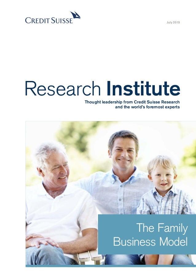 Family and partnership model