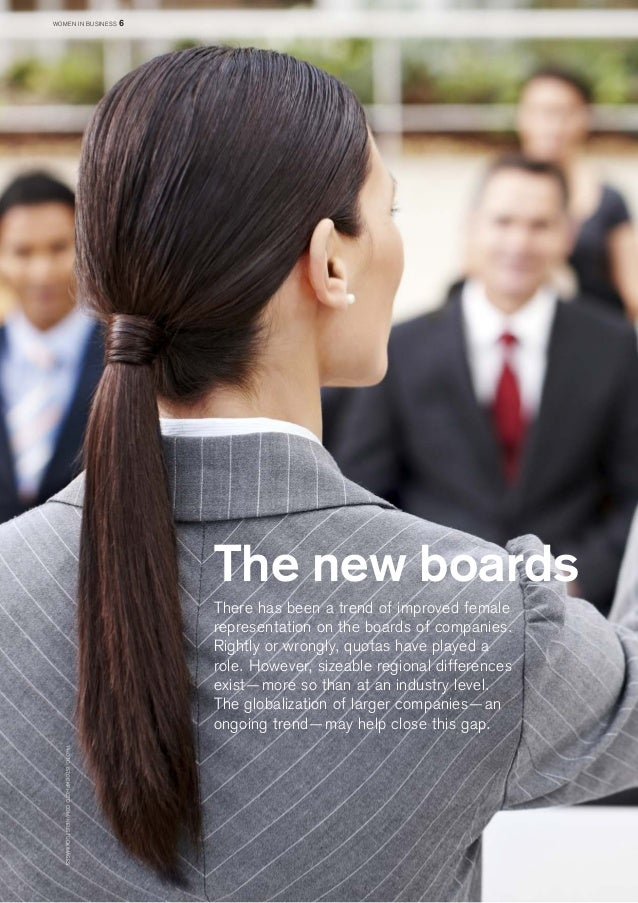 The new boards  There has been a trend of improved female representation on the boards of companies. Rightly or wrongly, q...