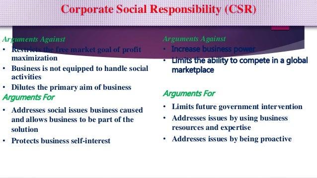 arguments against corporate social responsibility