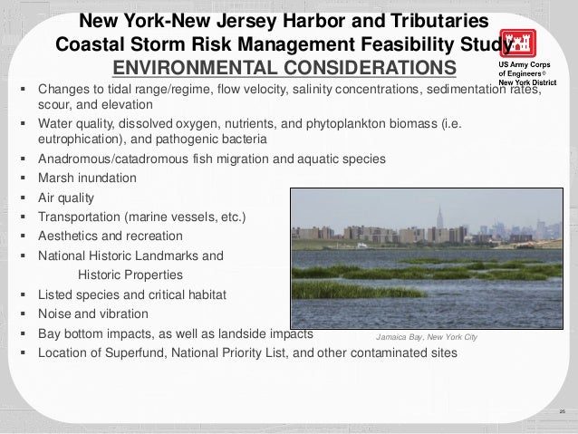 26 New York-New Jersey Harbor and Tributaries Coastal Storm Risk Management Feasibility Study PUBLIC INVOLVEMENT  Scoping...